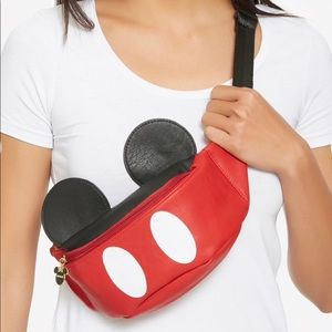 NEW Disney Mickey Mouse Ears Loungefly Fanny Pack